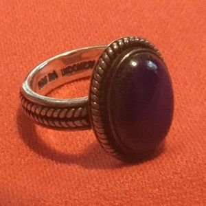 SUARTI STERLING SILVER BALINESE LAPIS RING SIZE 5